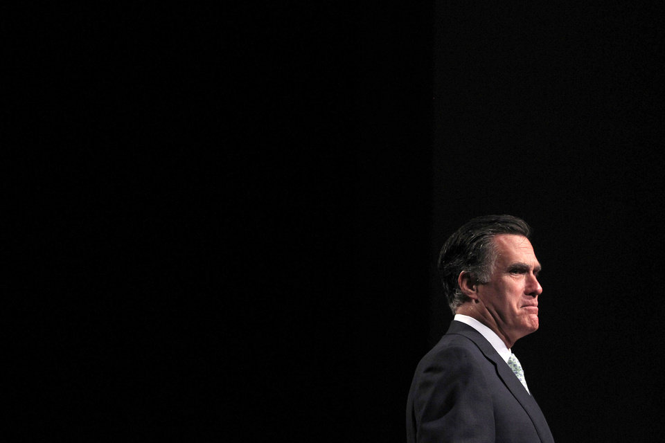Photo -   Republican presidential candidate, former Massachusetts Gov. Mitt Romney speaks at a campaign stop in Lansing, Mich., Tuesday, May 8, 2012. (AP Photo/Jae C. Hong)