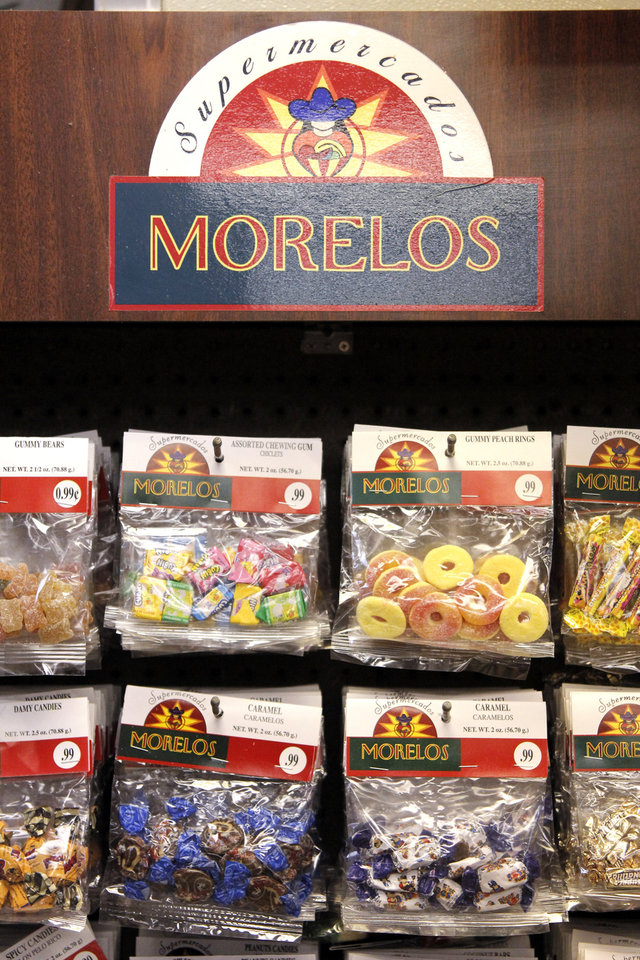 Candy selection at Supermercados Morelos in Oklahoma City, November 30, 2011. Photo by Doug Hoke, The Oklahoman