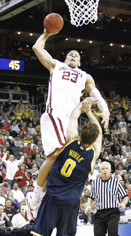 """Photo - Former OU star Blake Griffin will be featured in """"The Rookie"""" on ESPN.com, ESPN2 and ESPNU.  Photo by Bryan Terry, The Oklahoman"""