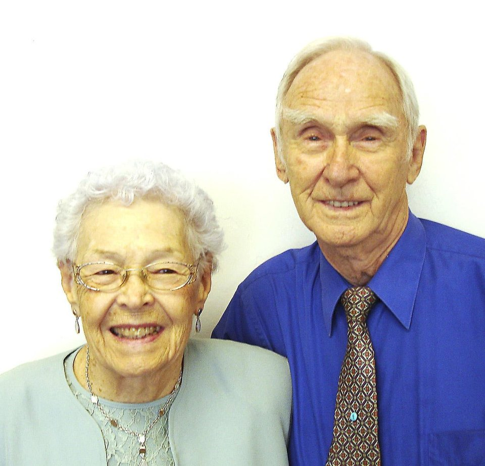 Floyce and Calvin Floyd were married June 25, 1946, in Oklahoma CIty .