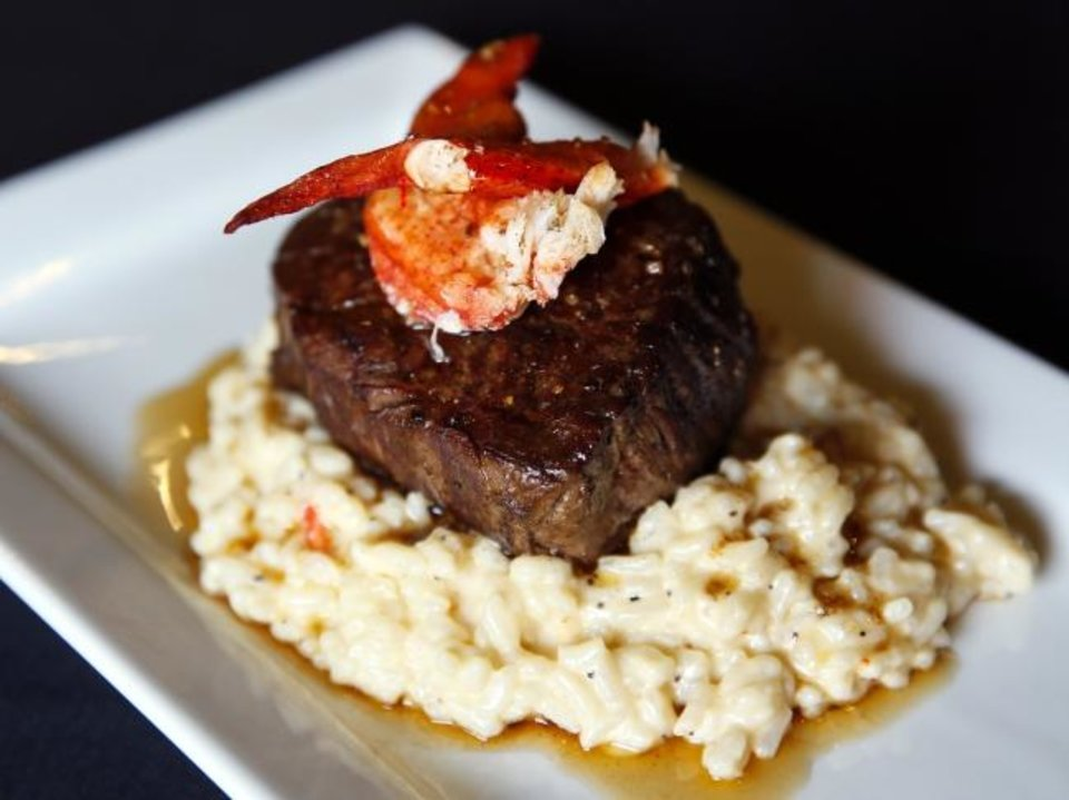 Photo - Filet special at Ned's Starlite Lounge in Oklahoma City, Thursday, Oct. 3, 2019. [Nate Billings/The Oklahoman]