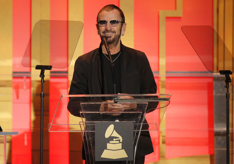 Photo - Ringo Star attends The 56th Annual GRAMMY Awards - Special Merit Awards Ceremony, on Saturday, Jan. 25, 2014 in Los Angeles. (Photo by Todd Williamson/Invision/AP)