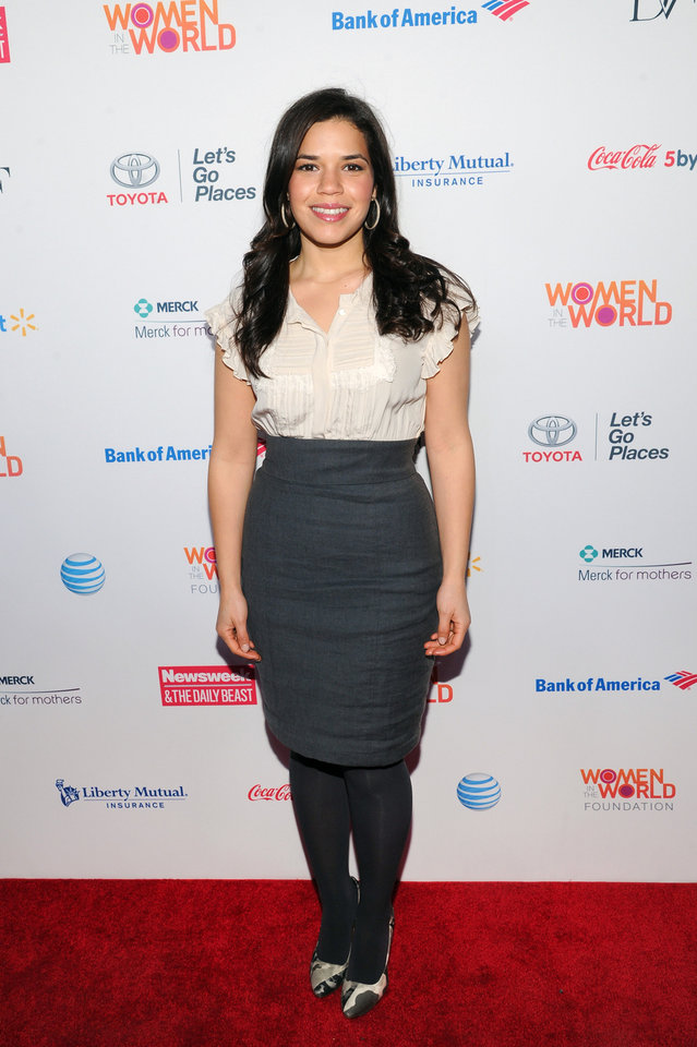 Photo - Actress America Ferrera attends the 4th Annual Women in the World Summit at the David H. Koch Theater on Thursday April 4, 2013 in New York. (Photo by Evan Agostini/Invision/AP)