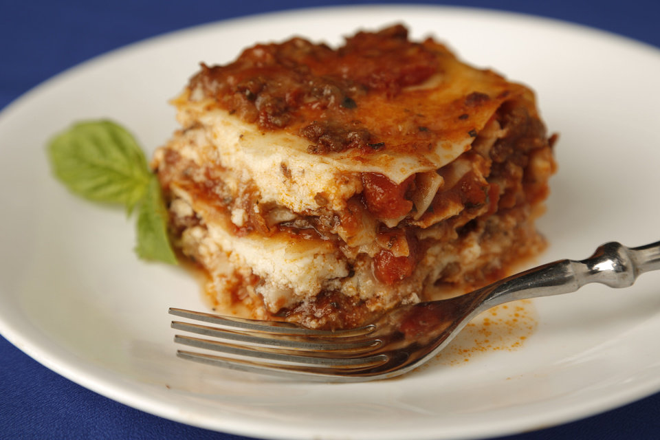 Lasagna. Photo by Doug Hoke, The Oklahoman DOUG HOKE