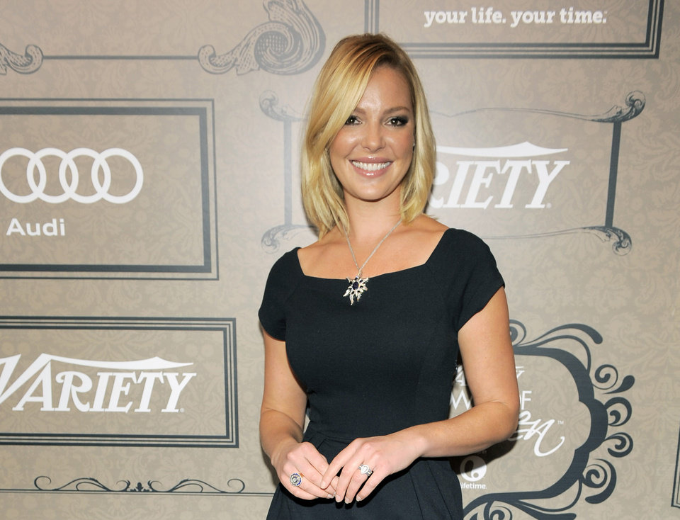 Photo - FILE - In this Oct. 5, 2012 file photo, actress Katherine Heigl poses at Variety's 4th annual Power of Women event in Beverly Hills, Calif. Heigl will star as a CIA analyst in the new NBC series