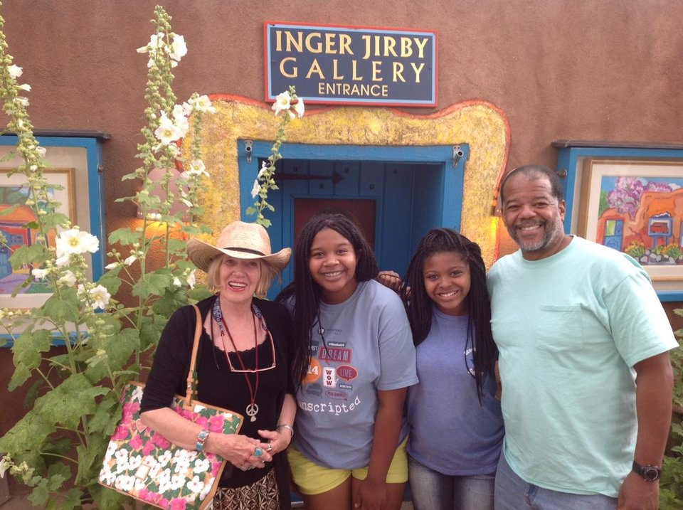 Photo - Local artist Injer Jirby welcome us to her guest house. Photo by Carla Meadows