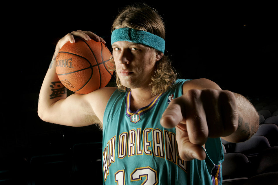 Photo - NBA BASKETBALL: Chris Andersen with the New Orleans/Oklahoma City Hornets at the Ford Center in Oklahoma City, October 3, 2005.  By Bryan Terry