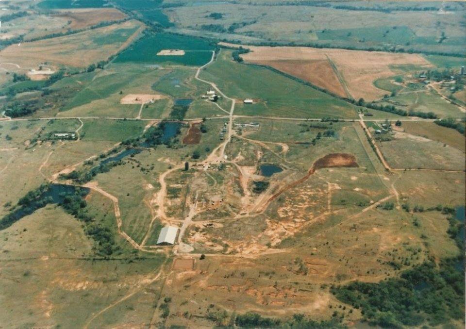 Photo - The Hardage superfund site in Criner, OK before the site cleanup