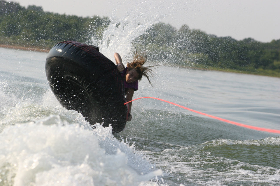 Kristen about to wipe out on vacation 2006 at Lake Eufaula Community Photo By: Janna McCoy Submitted By: Janna, Choctaw