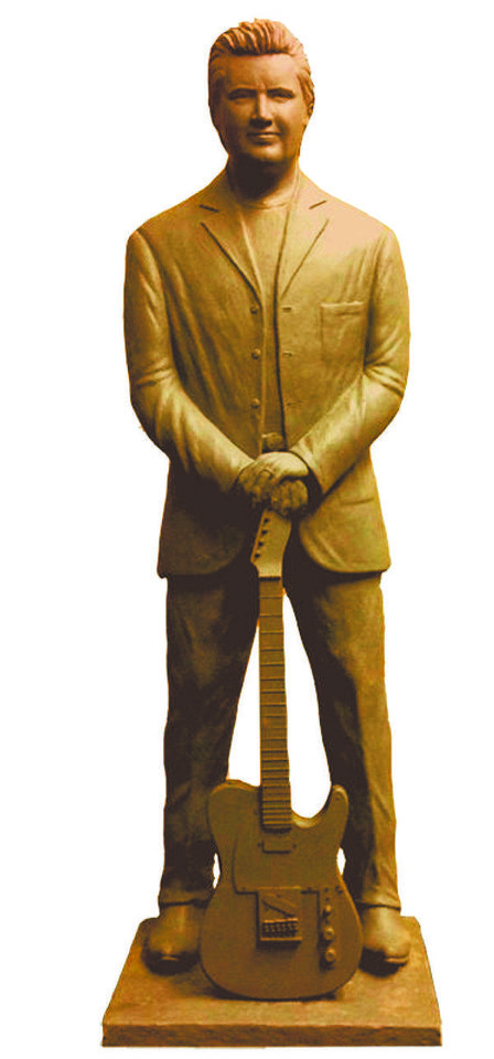 The clay maquette that will be the basis for the proposed Vince Gill statue in Bricktown. Photo provided. <strong>Kienzle, Robbie L</strong>