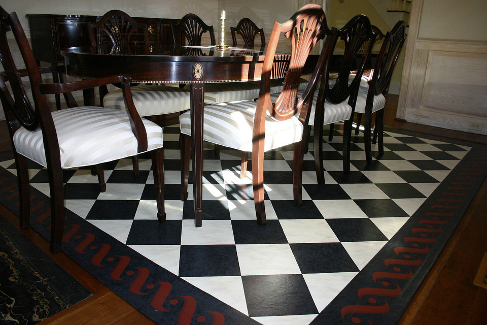 Photo - In this photo provided by Canvasworks Floorcloths, a