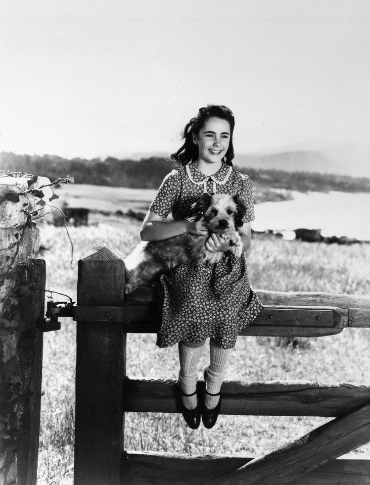 FILE - This file photo shows young actress Elizabeth Taylor playing a girl who wins a horse in a raffle in