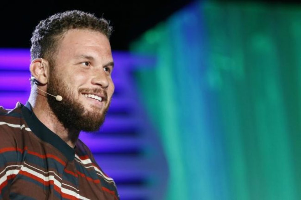 Photo -  Blake Griffin, seen at The Oklahoman's All-City Preps banquet June 3, made his comedy roaster debut Saturday.  [Paxson Haws/The Oklahoman]