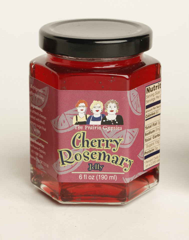 The Prairie Gypsies Cherry Rosemary jelly.   Photo by Doug Hoke, The Oklahoman. <strong>DOUG HOKE - THE OKLAHOMAN</strong>