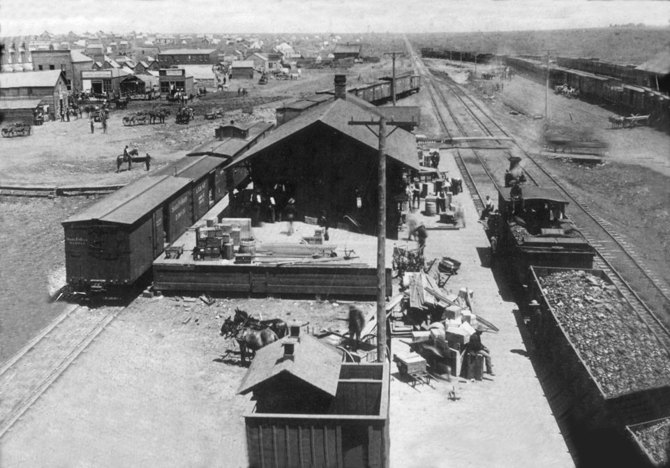 Santa Fe Depot in early Oklahoma City.
