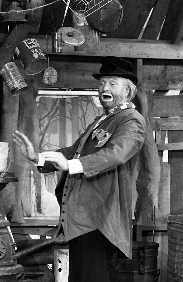 Photo -  FILE--Comedian Red Skelton, shown in this Dec. 1978 file handout photo from NBC-TV.   Skelton, the sentimental clown who delighted television audiences for 20 years playing Clem Kadiddlehopper, Freddie the Freeloader and the Mean Widdle Kid, died Wednesday. He was 84.  (AP Photo/NBC-TV)