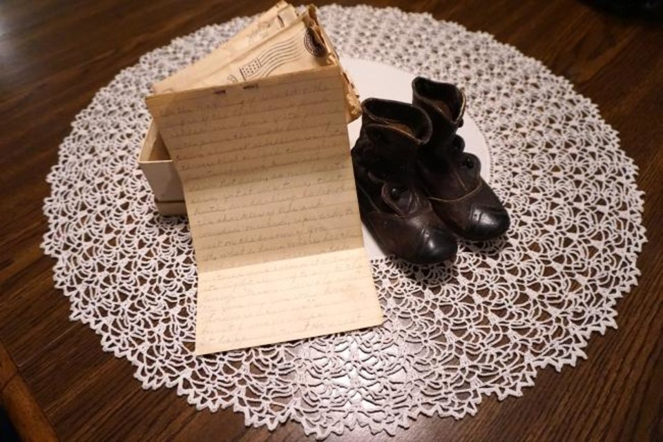 Photo -  Oklahoma City resident Janis Blevins found a small, white shoebox when she was cleaning out her parents' house a decade ago. The letters inside, written after her grandparents' 4-year-old died during the Spanish flu epidemic of 1918, tell of a time Blevins never thought we'd see the likes of again. [PROVIDED]
