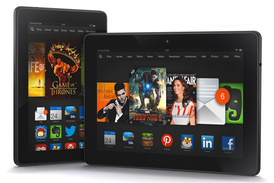 Photo - A pair of Kindle Fire HDX tablets. Photo provided.