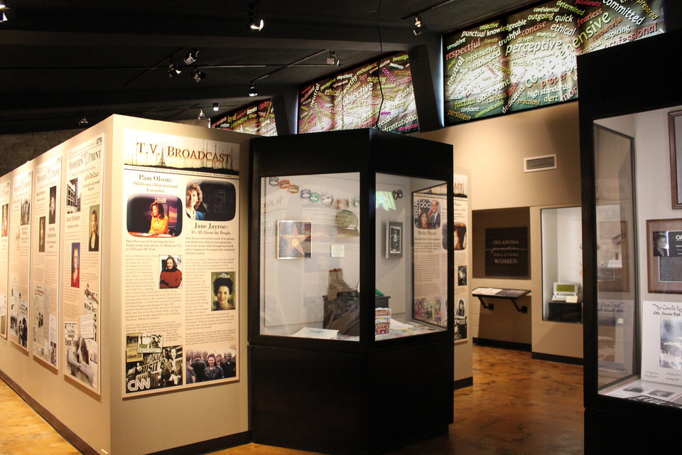 """Photo -  """"Breaking News: Oklahoma Women Journalists"""" exhibit at the Pioneer Women's Museum in Ponca City. Photo provided"""