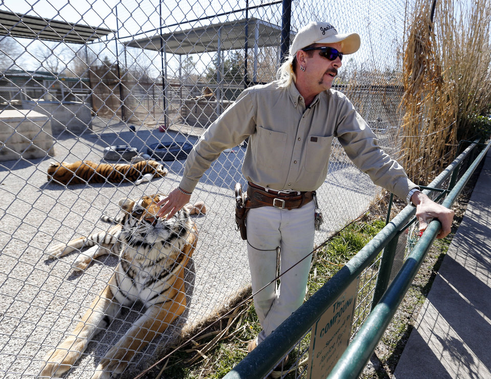 Joe Schreibvogel talks Thursday about a lawsuit at GW Exotic Animal Park in Wynnewood.  Photo by Steve Sisney, The Oklahoman