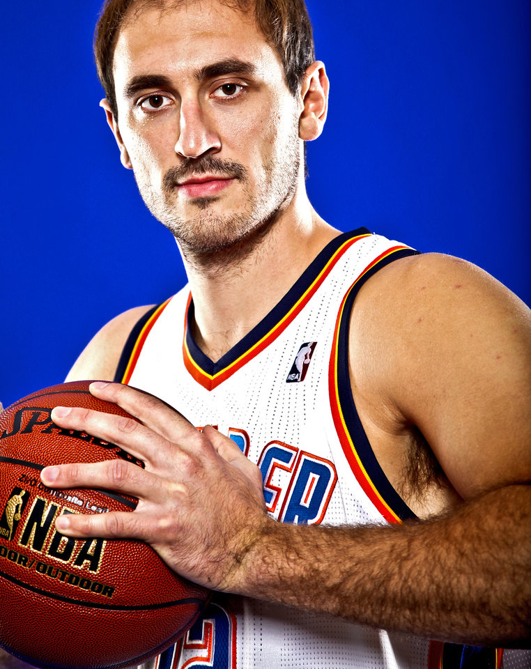 Photo - NENAD KRSTIC poses for a photo during the Oklahoma City Thunder media day on Monday, Sept. 27, 2010, in Oklahoma City, Okla.   Photo by Chris Landsberger, The Oklahoman