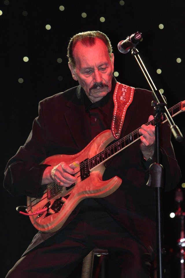 Photo - Nokie Edwards of The Ventures performs at the 2011 Oklahoma Music Hall of Fame. Photo by Jay Spear