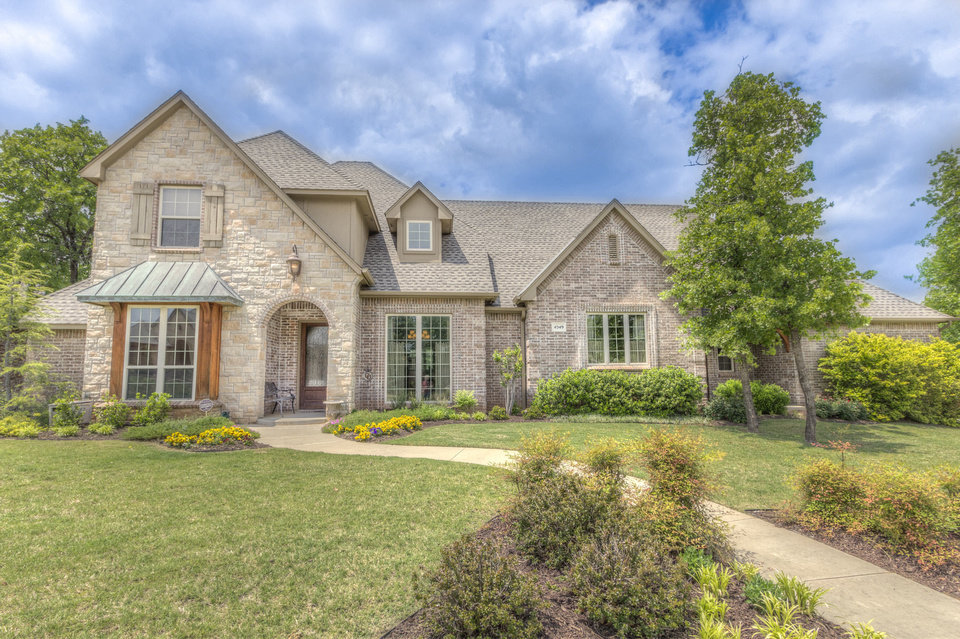 Photo - Karen Blevins of Churchill-Brown & Associates Realtors has this 3,430-square-foot home at 4549 Boulder Bridge Way in Edmond listed for $448,500.   - PROVIDED