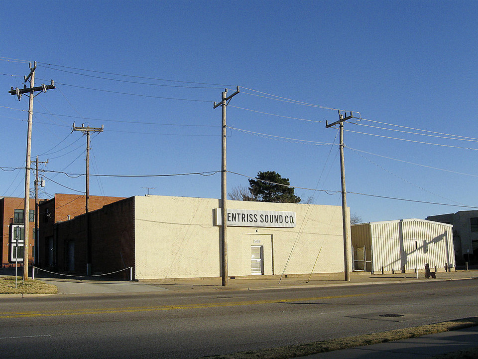 The corner of NE 4 and Walnut in Deep Deuce, once home to Fentriss Sound, recently sold for $1.4 million to Bob Meinders, who is planning to turn the property into retail and an apartment. Photo by Steve Lackmeyer, The Oklahoman