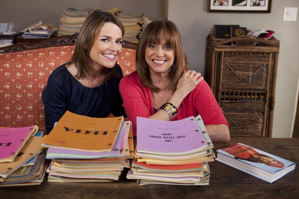 Photo - In this undated photo provided by NBC, Valerie Harper, right, poses with Savannah Guthrie of NBC's