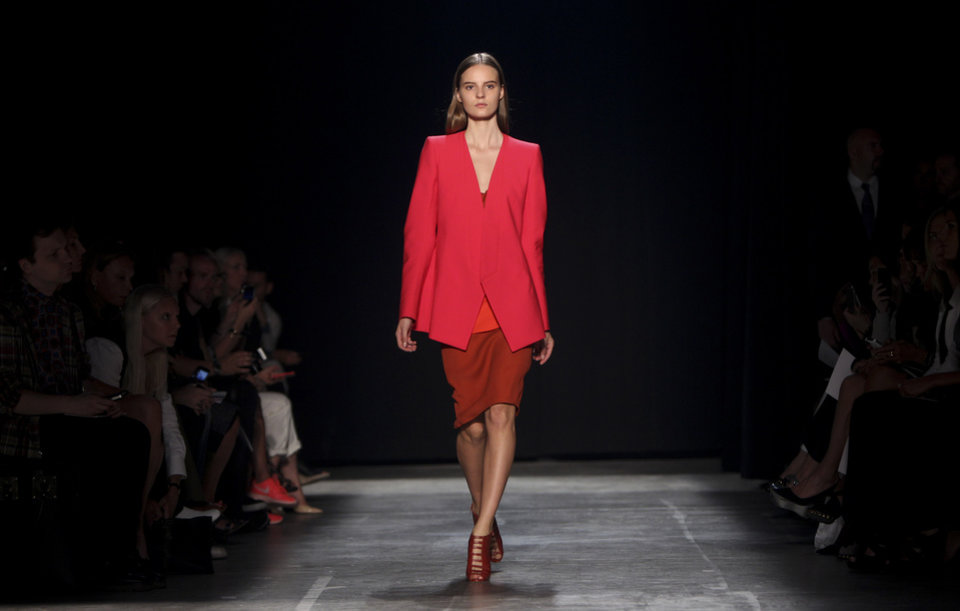 Photo -   The Narciso Rodriguez Spring 2013 collection is modeled during Fashion Week in New York, Tuesday, Sept. 11, 2012. (AP Photo/Seth Wenig)
