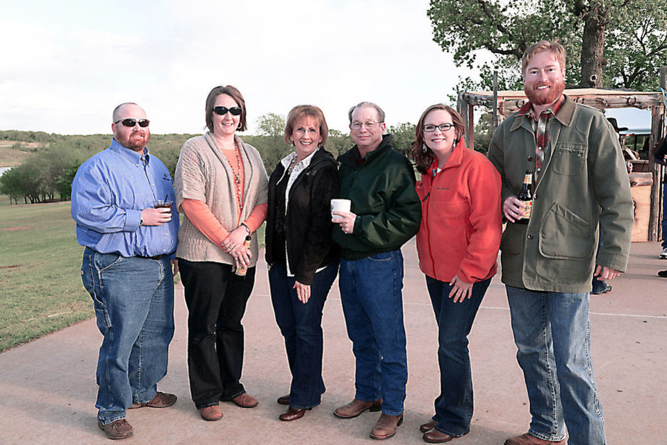 Photo - frontier 4:  Phil, Elicia, Pam, Bob, and Sarah Spinks; Will Richter. Photo by David Faytinger for The Oklahoman