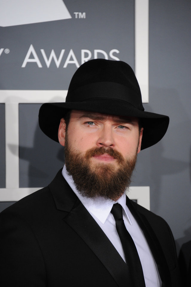 Photo - Zac Brown, of the Zac Brown Band, arrives at the 55th annual Grammy Awards on Sunday, Feb. 10, 2013, in Los Angeles.  (Photo by Jordan Strauss/Invision/AP)