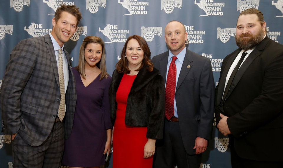 Photo - Clayton and Ellen Kershaw, Emily Long, Charlie Price, Chuck Shirley. PHOTO BY BRYAN TERRY, THE OKLAHOMAN