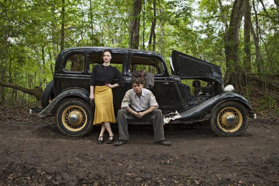 "Photo -  Bonnie & Clyde (L to R) Holliday Grainger (""Bonnie Parker"") and Emile Hirsch (""Clyde Barrow"") star in the all-new miniseries, Bonnie & Clyde. Part-One premieres Sunday, December 8 at 8 pm followed by Part-Two on Monday, December 9, at 8 pm on Lifetime, History and A&E. Photo by Joseph Viles Copyright 2013"