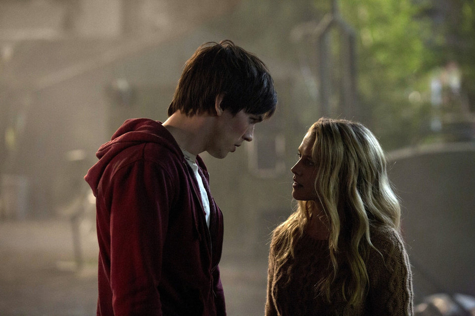 "Nicholas Hoult and Teresa Palmer in a scene from ""Warm Bodies.""  Summit Entertainment Photo <strong>Jan Thijs</strong>"