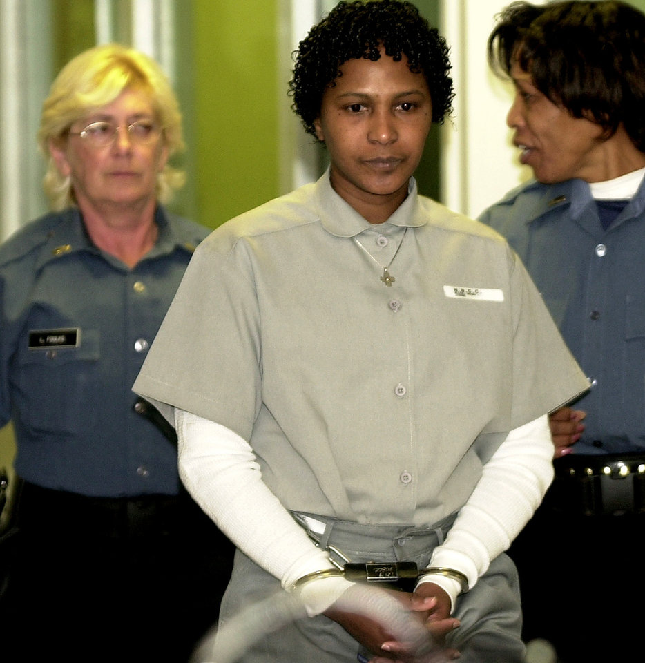 Convicted murderer Wanda Jean Allen enters the room for her Clemency hearing. Photo by Bryan Terry, The Oklahoman