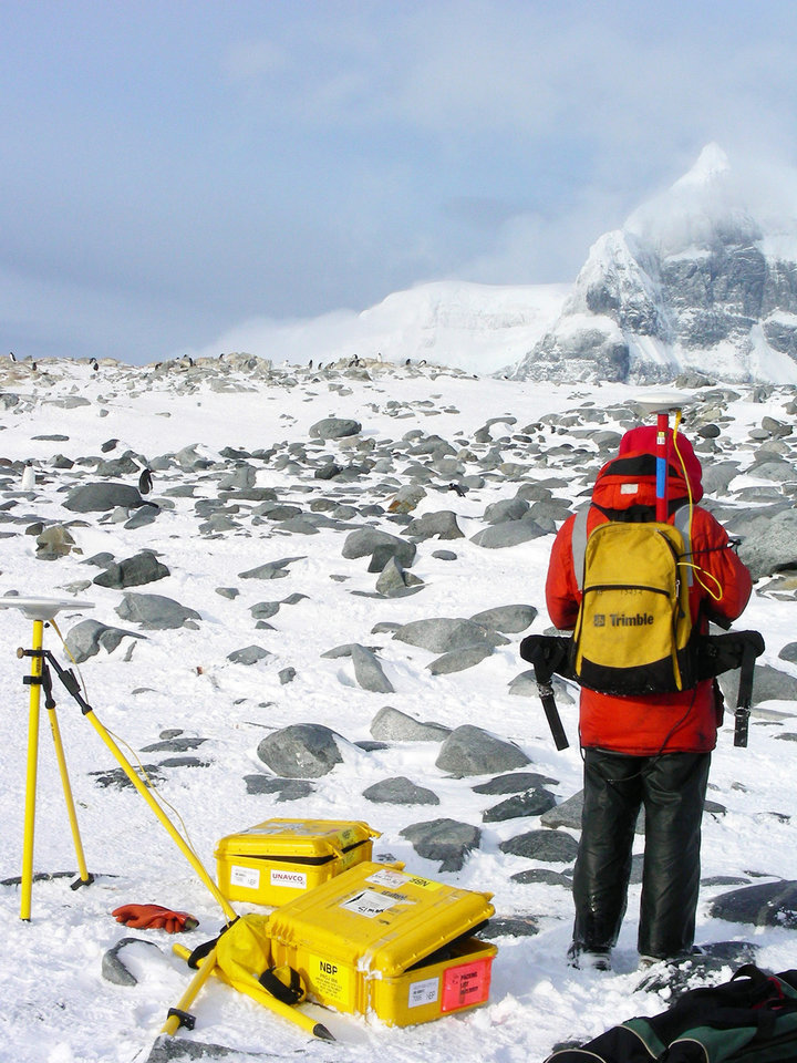 Photo - Oklahoma State University researchers are shown in Antarctica in 2007. Geology professor Alex Simms will return with two graduate students to study how ice rebounds from melting. PHOTOS PROVIDED BY OSU