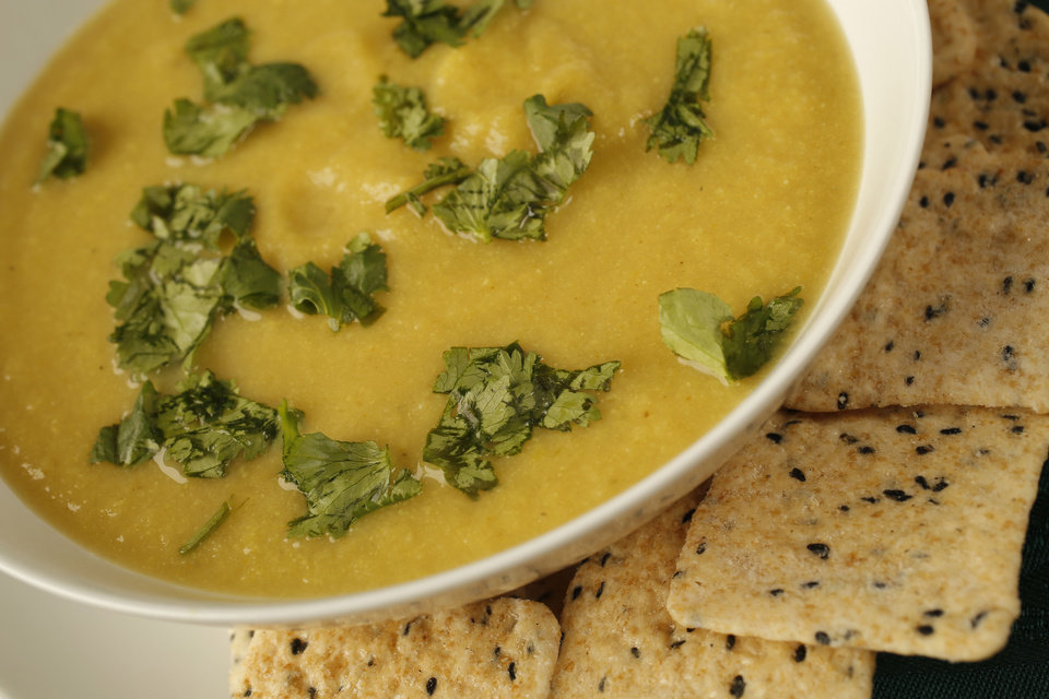 Photo - Curried Cauliflower soup is delicious and good for you.  DOUG HOKE - THE OKLAHOMAN