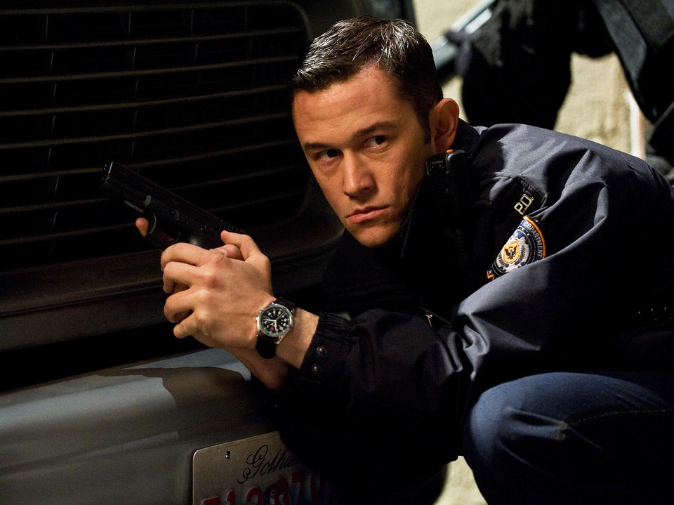 "In this publicity photo provided by Warner Bros. Pictures, Joseph Gordon-Levitt, as John Blake, is shown in a scene in Warner Bros. Pictures� and Legendary Pictures� action thriller �The Dark Knight Rises,""  a Warner Bros. Pictures release. TM & © DC Comics. (AP Photo/Warner Bros. Pictures, Ron Phillips)"