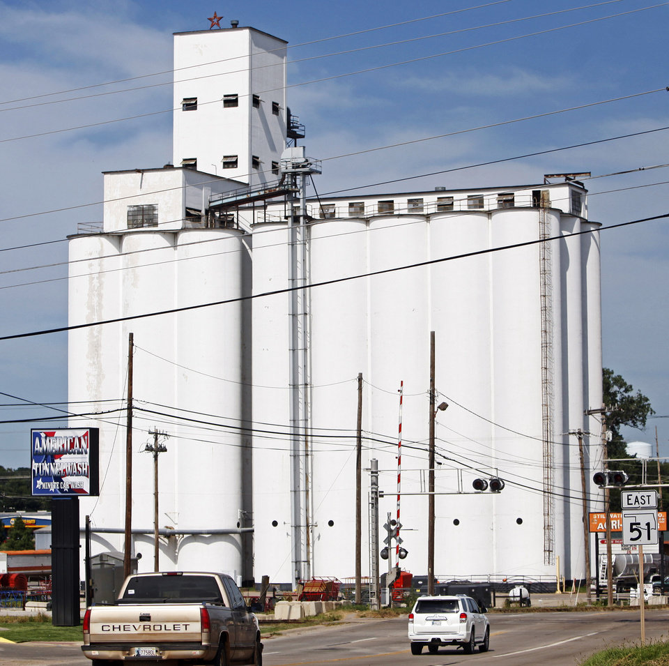 The Stillwater Milling Co. grain elevator is seen on State Highway 51 in Stillwater. Photo by KT King, The Oklahoman KT King - The Oklahoman