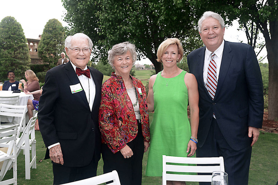 Photo - Jim and Vickie Norick, Tricia Everest, Mike Turpen. Photo by David Faytinger, for The Oklalhoman