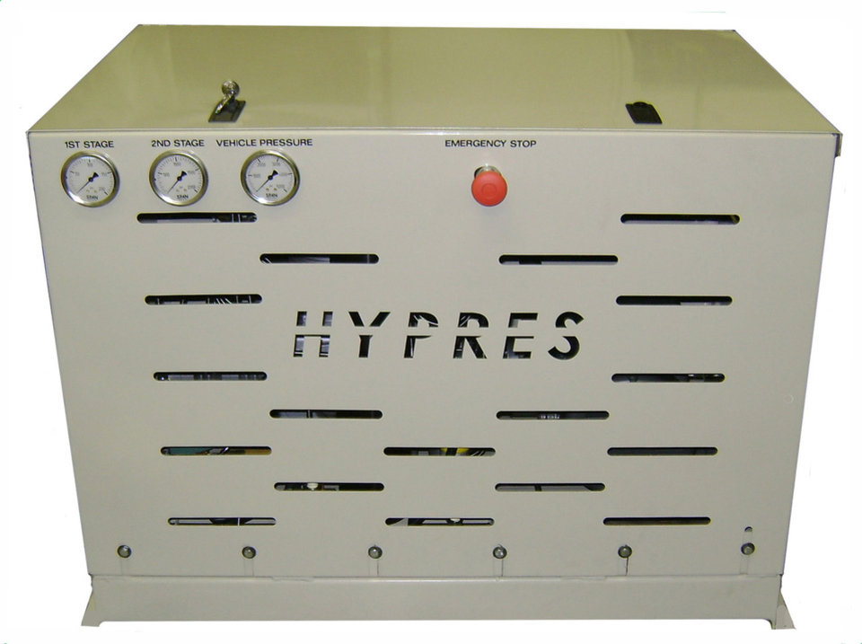 Photo -  HYPRES Equipment's H3 residential home fueling unit can fill CNG vehicles at two gallons per hour.    -  photo provided