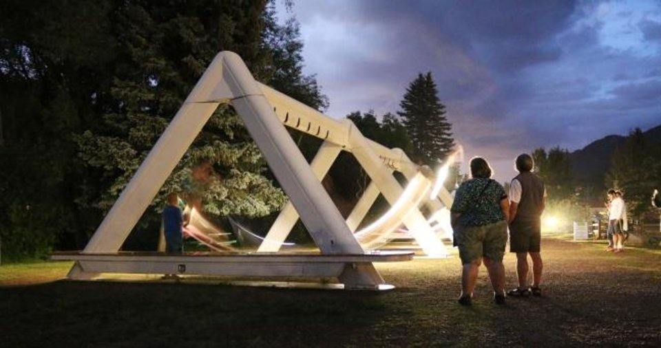 Photo -  The Musical Swings art project combines lights and music for a unique experience the public can enjoy from Sept. 20 through Oct. 13 in Bicentennial Park. [PHOTO PROVIDED]