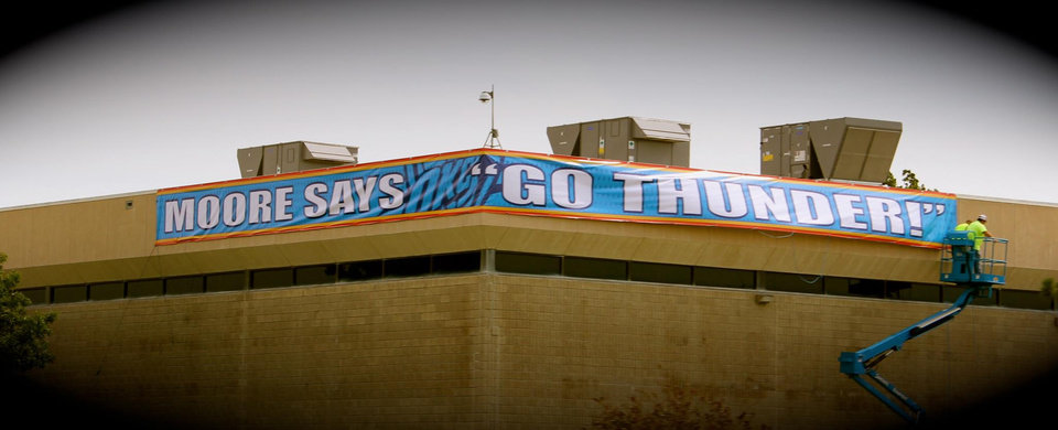 Photo - Moore, Okla. is ready for the Finals.