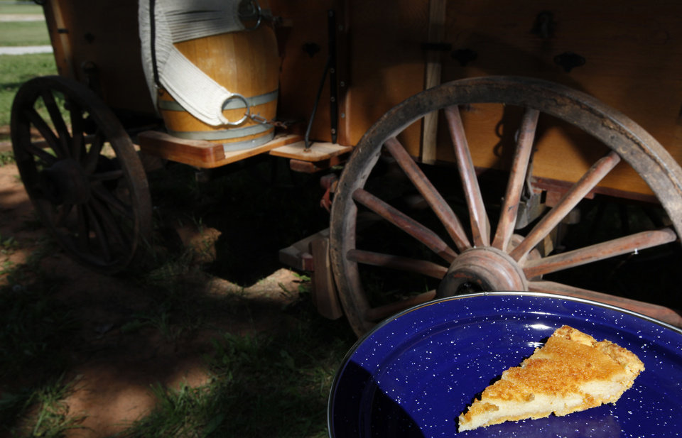 Photo - Buttermilk Pie with Cornmeal Crust  is pictured at the National Cowboy & Western Heritage Museum in Oklahoma City.  SARAH PHIPPS - THE OKLAHOMAN