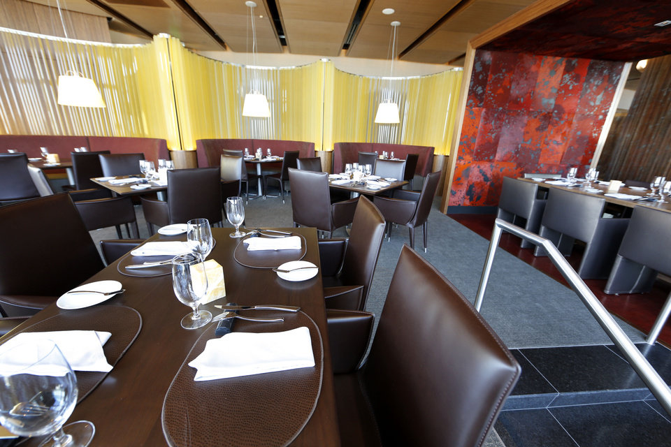 Photo - Vast is the new restaurant on the 49th floor of Devon Tower in Oklahoma City. Photo by Steve Gooch, The Oklahoman  Steve Gooch - The Oklahoman