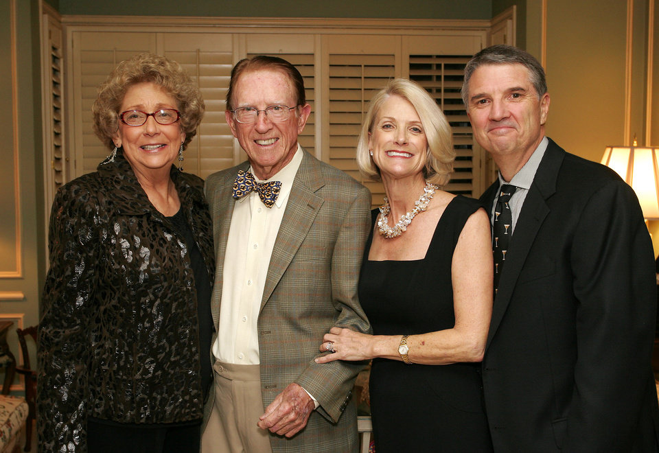 Alma Lynch, Dick Clay, and Marty and Cliff Conkle. - PHOTO BY DAVID FAYTINGER, FOR THE OKLAHOMAN