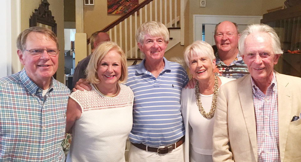 Photo - Jim Rodgers, Linda Rodgers, Dale Crabtree, Dianne Braden, Jim Braden, Bill Rodgers. PHOTO PROVIDED