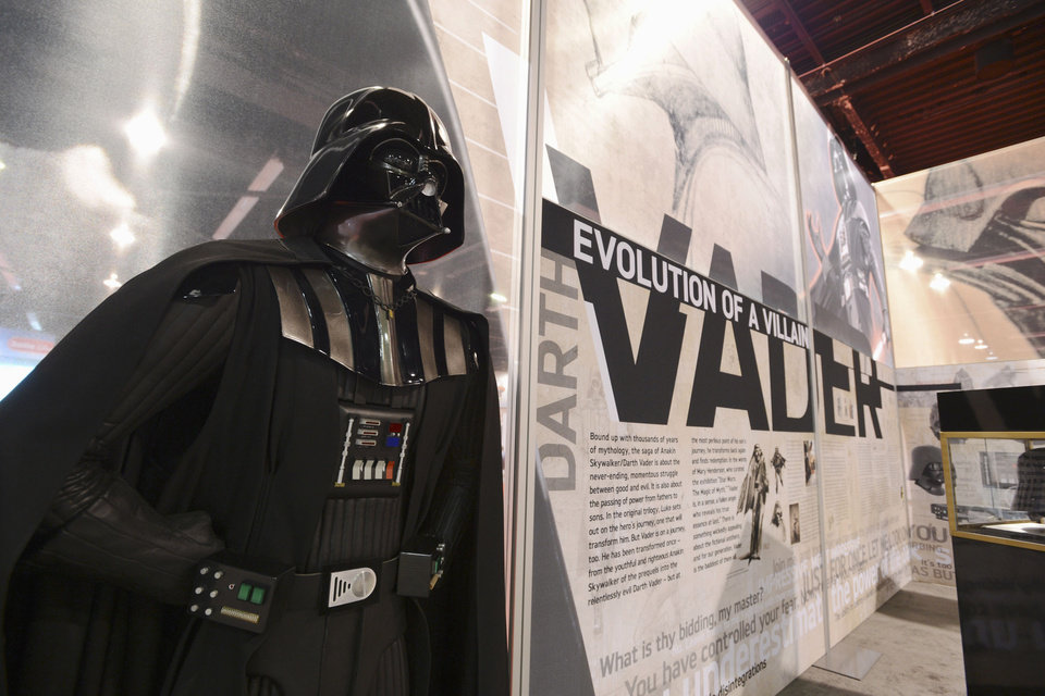 Photo - This Thursday, August 8, 2013 publicity photo released courtesy of Disney shows the Darth Vader exhibit at D23 EXPO, Aug. 9-11, 2013, a three-day celebration for fans of all things Disney held at the Anaheim Convention Center in Anaheim, Calif. (AP Photo/Copyright Disney, D23 EXPO, Matt Petit)