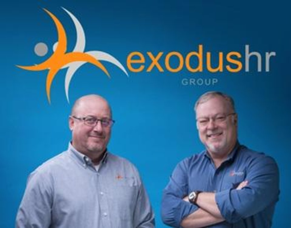 Photo - Exodus HR Group was founded by Mike Edmonds and Mike Robinson who jointly have over 30 years of experience in the payroll and HR outsourcing industry. Photo provided.